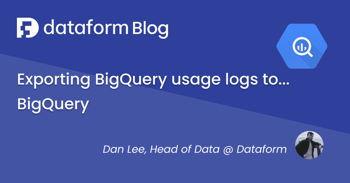 Keep track of your Bigquery costs by exporting usage logs. illustration