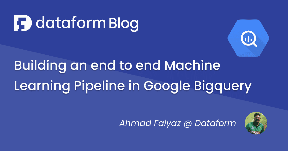Tutorial: Building a Bigquery ML pipeline illustration