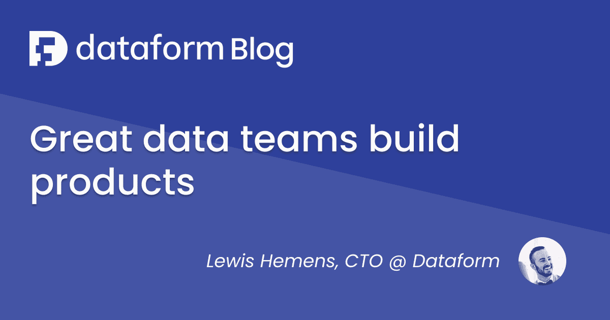 Great data teams build products illustration