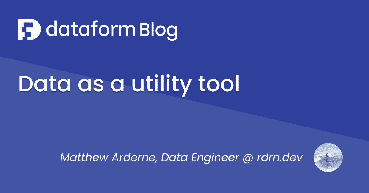 Data as a Utility Tool illustration