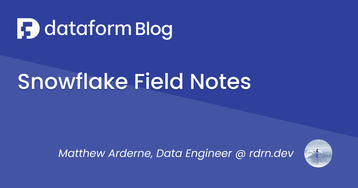 Snowflake Field Notes illustration