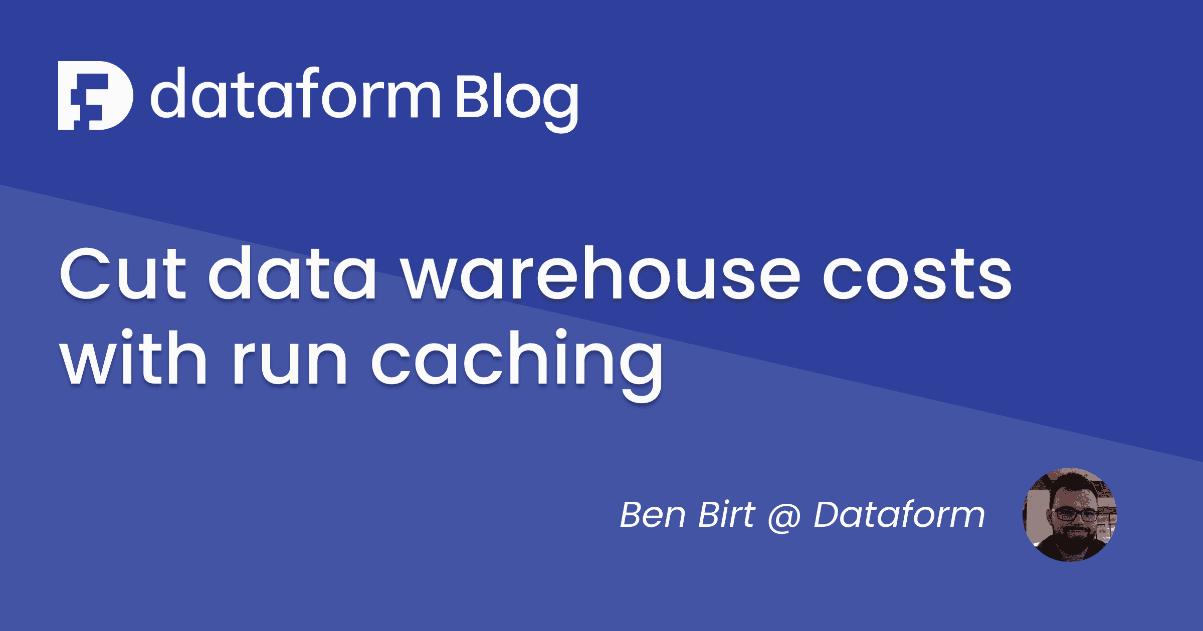 Cut data warehouse costs with run caching illustration