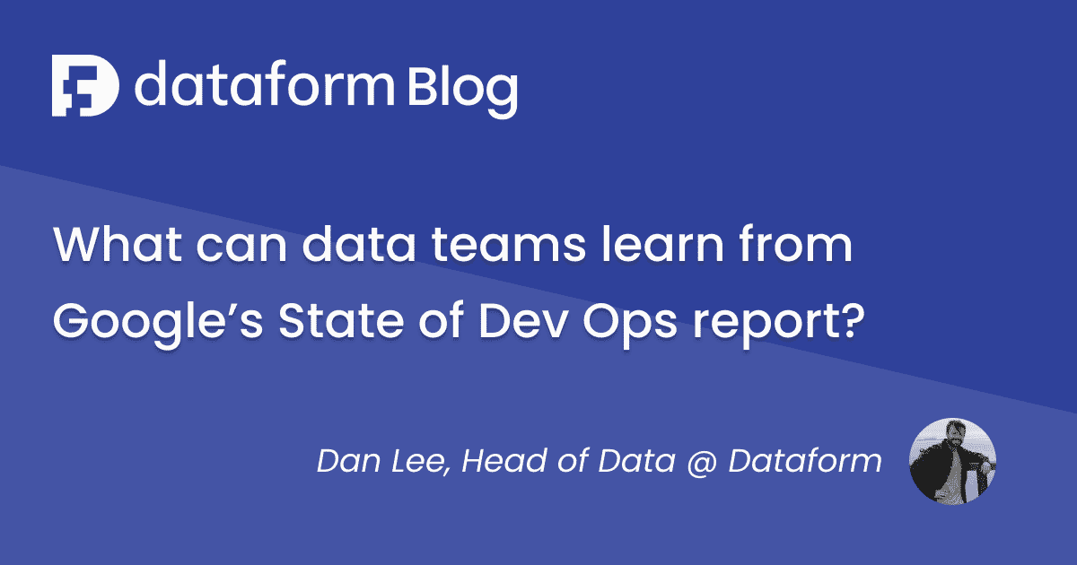 What can data teams learn from Google's State of DevOps report? illustration