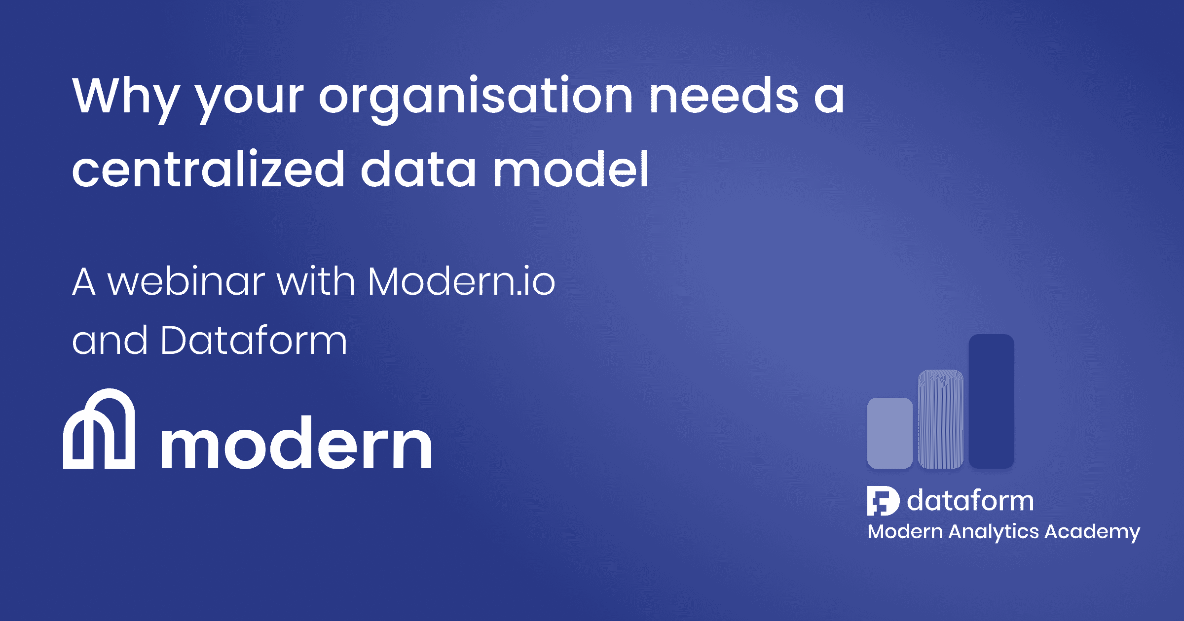 Why your organization needs a centralized data model illustration